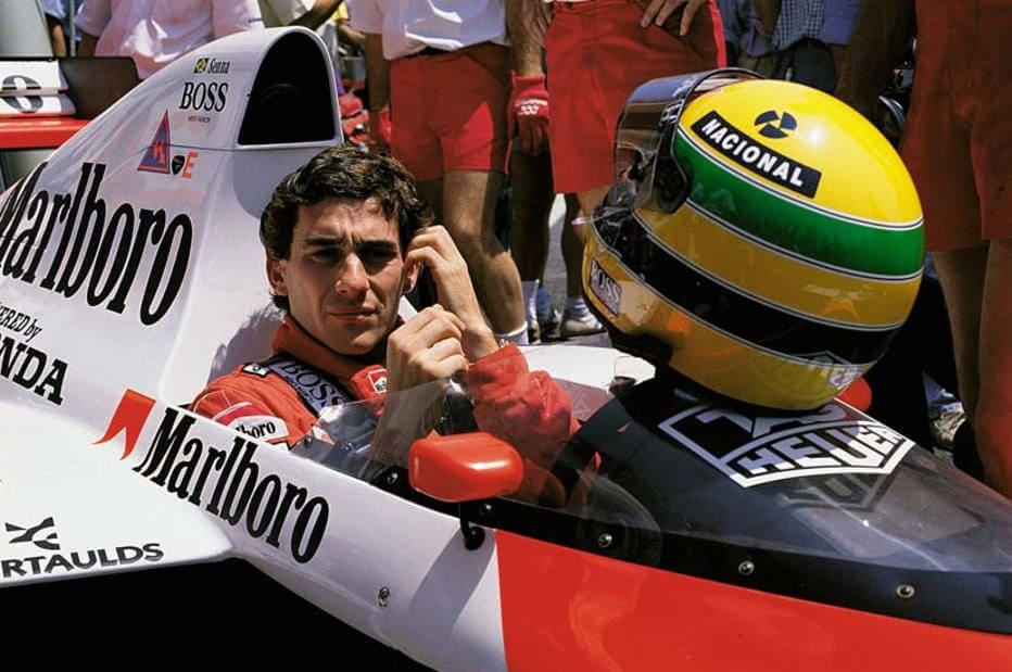 Ayrton Senna em carro da McLaren