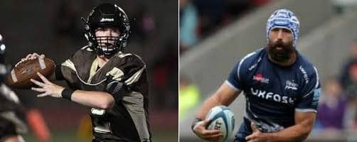 Jogadores de futebol americano e rugby
