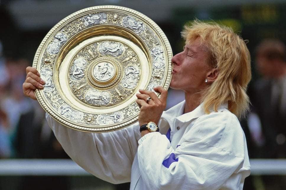 Martina Navratilova maior campeã do torneio de Wimbledon