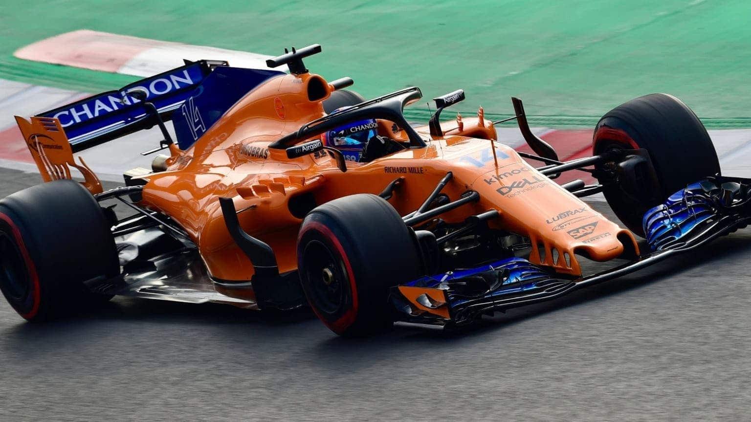 Carro da McLaren, equipe de Fórmula 1