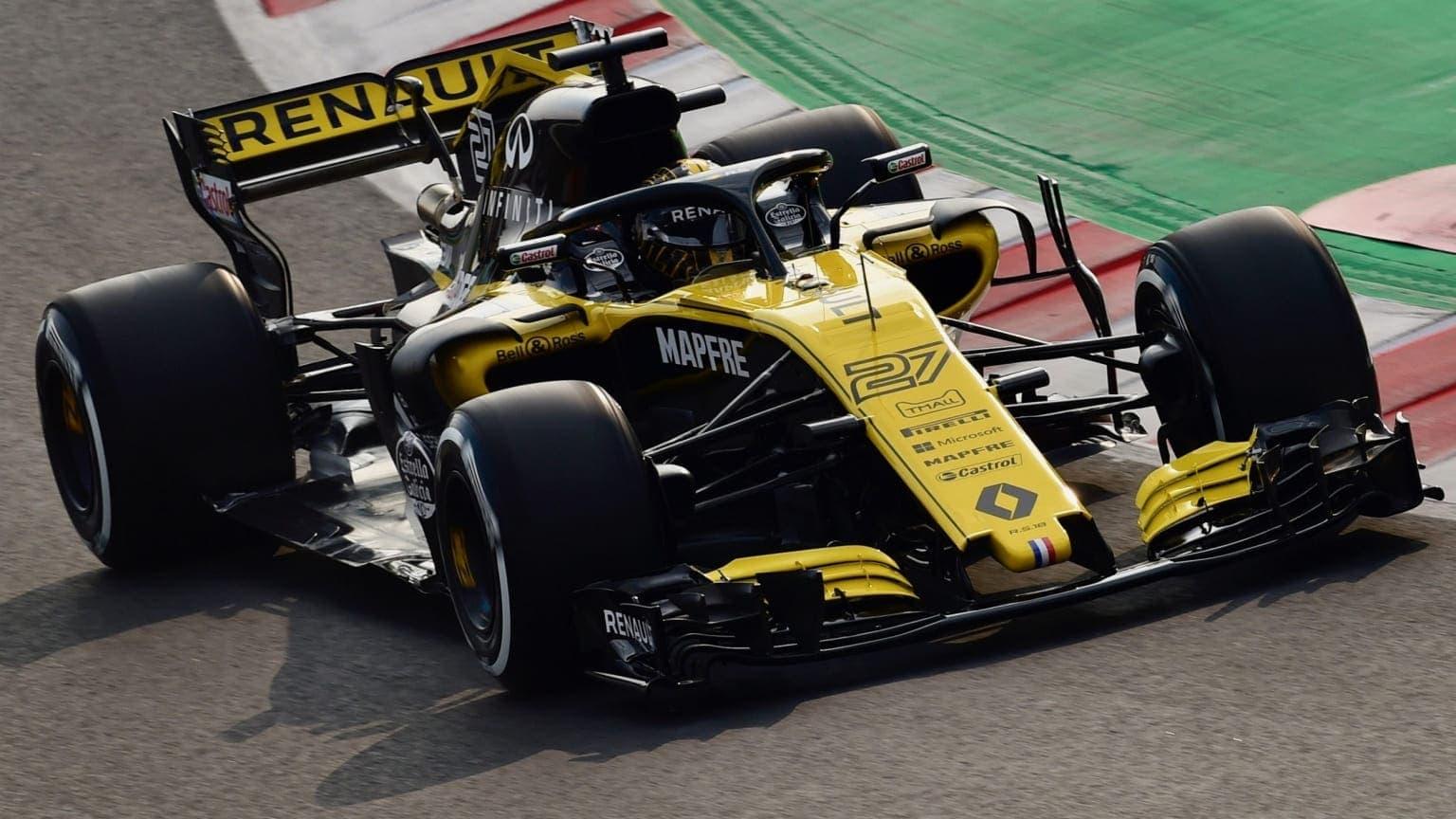 Carro da Renault, equipe de Fórmula 1