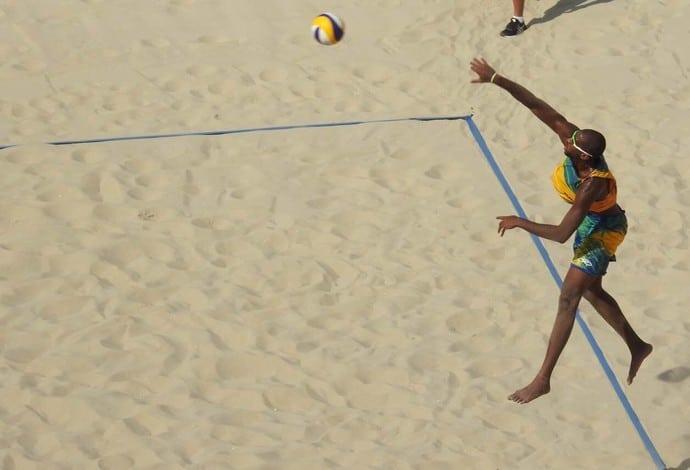 Saque vôlei de praia