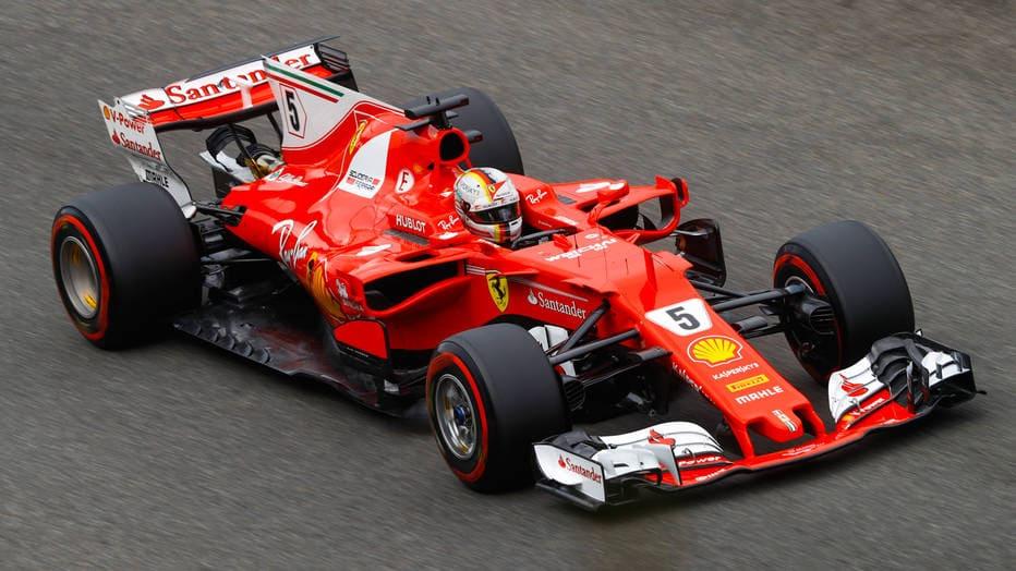 Carro de Sebastian Vettel, piloto da Ferrari na Fórmula 1