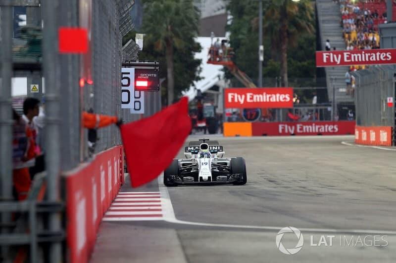 Bandeira vermelha da Fórmula 1
