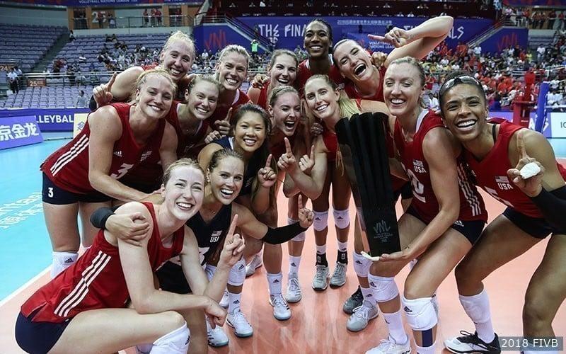 Seleção dos Estados Unidos venceu a primeira Liga das Nações de vôlei feminino