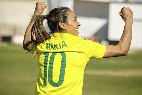 Marta, maior artilheira da história da Copa do Mundo de futebol feminino