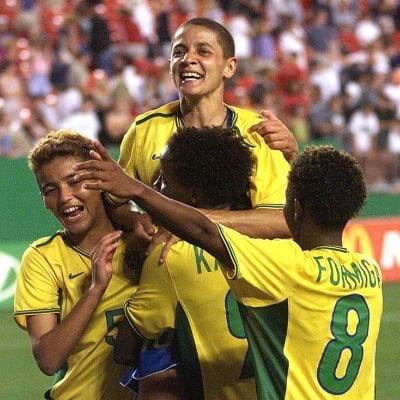Sissi, do Brasil, foi artilheira da Copa do Mundo de futebol feminino de 1999
