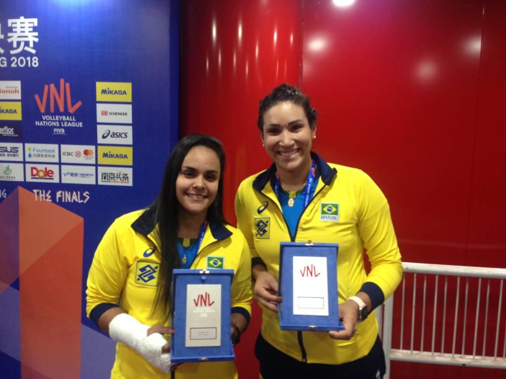 Suelen e Tandara eleitas para seleção da Liga das Nações de vôlei feminino de 2018