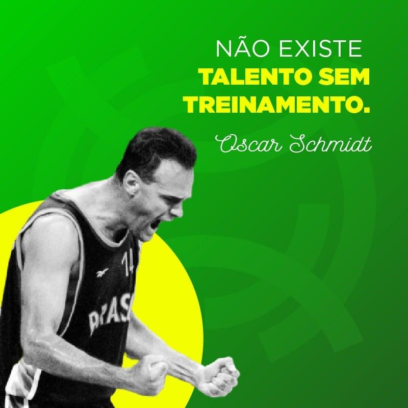 Frase de basquete de Oscar Schmidt