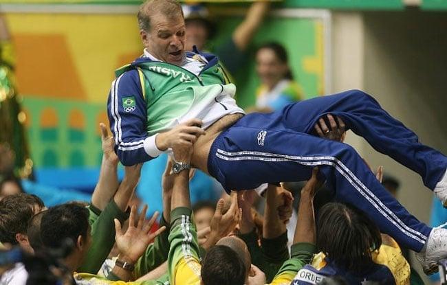 Bernardinho técnico da seleção brasileira de vôlei masculino