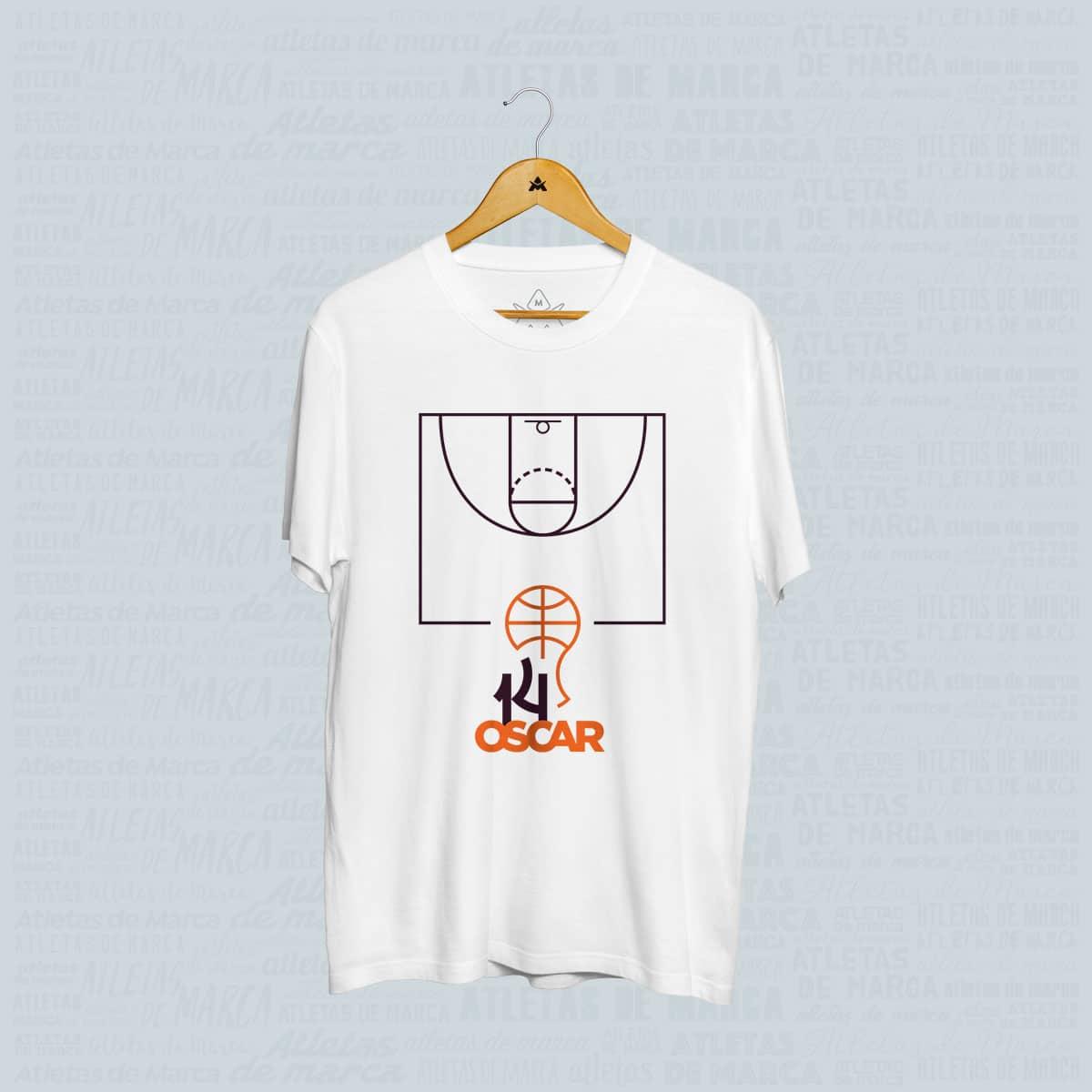 Camiseta Oscar Schmidt Quadra de Basquete