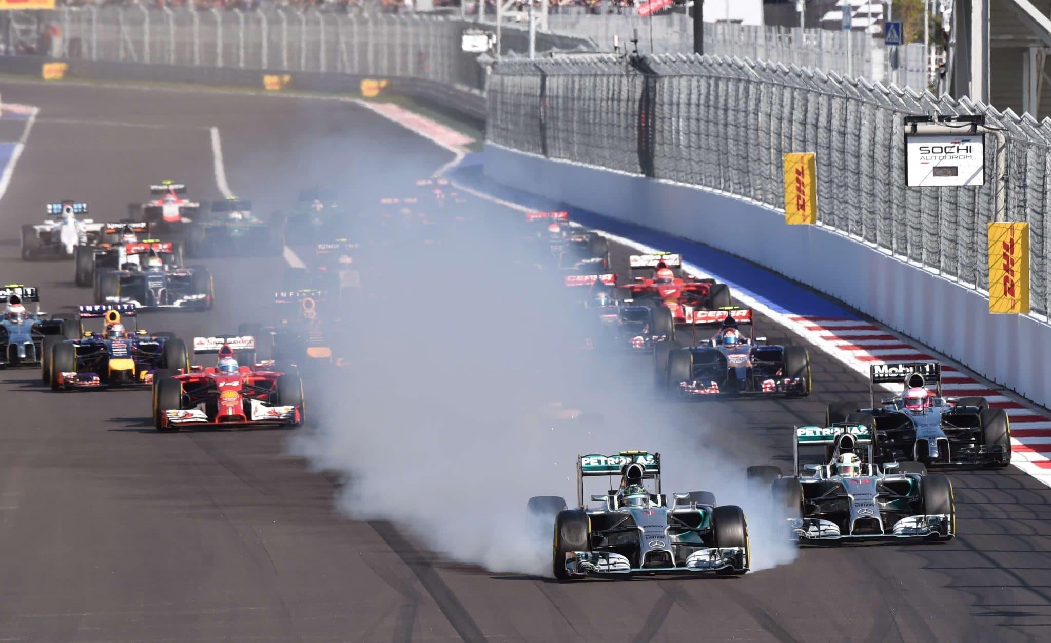 Fritada de pneus Fórmula 1