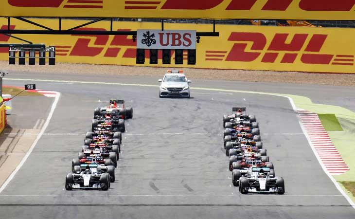 Grid de largada da Fórmula 1