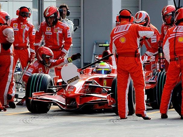 Pirulito de pit stop da Fórmula 1