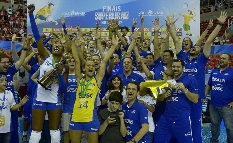 Rexona-Sesc campeão da Superliga Feminina de vôlei 2016/2017