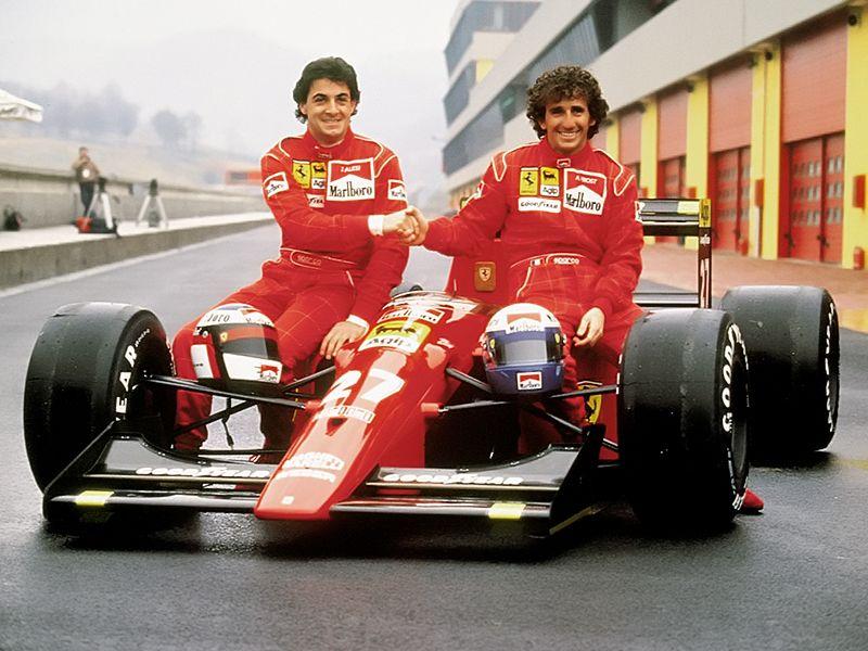 Jean Alesi e Alain Prost na Ferrari