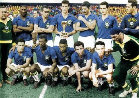 Camisa da Seleção Brasileira na Copa do Mundo de 1958