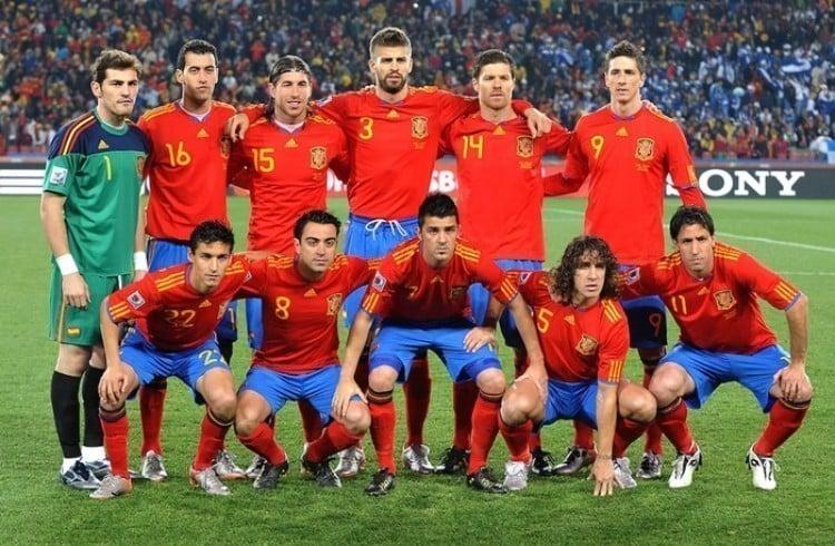 Camisa da Espanha na Copa de 2010