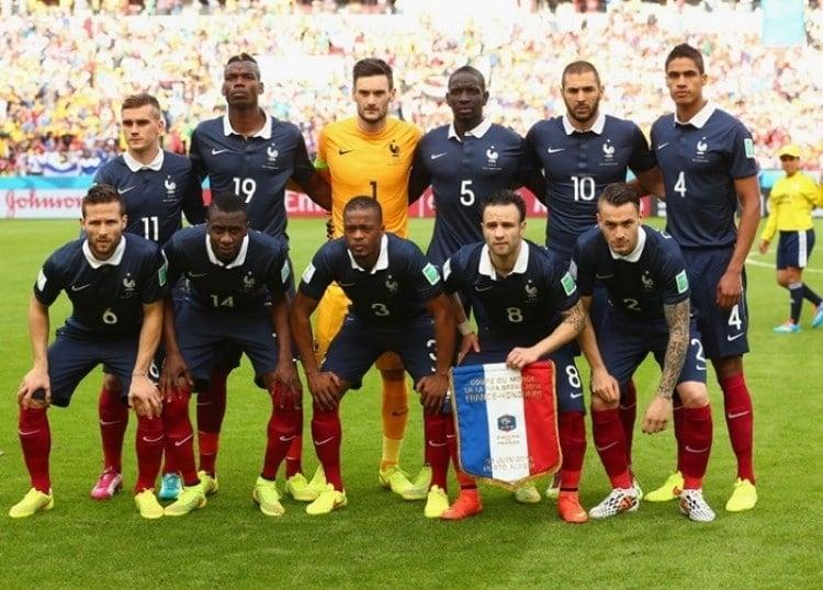 Camisas da França na Copa de 2014