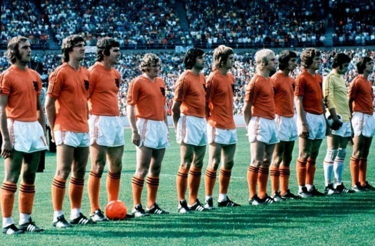 Camisa da Holanda em 1974