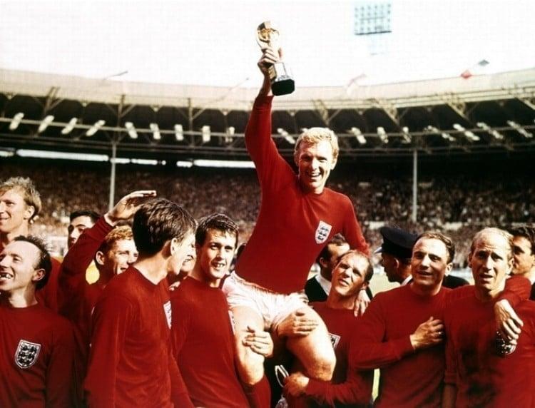 Camisa da Inglaterra em 1966