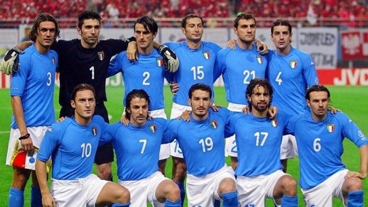 Camisa da Itália na Copa de 2002