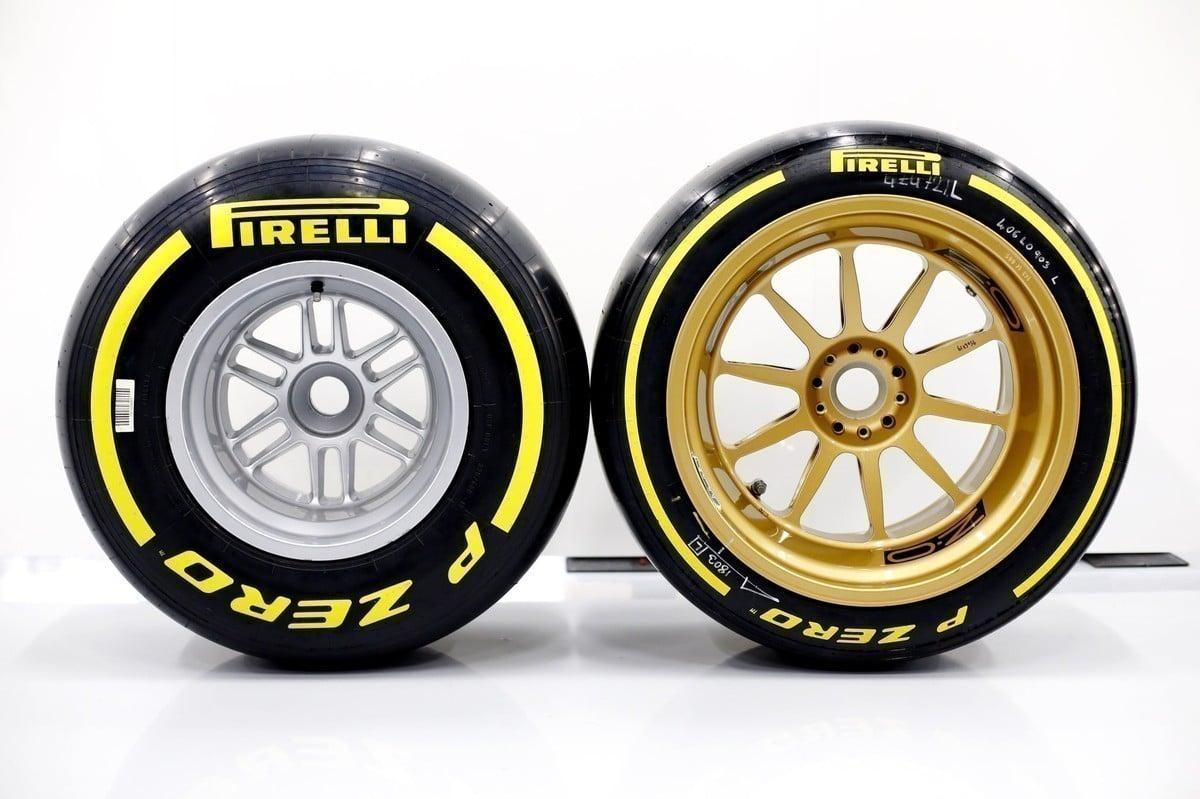 Pneus da Fórmula 1 aro 13 e aro 18