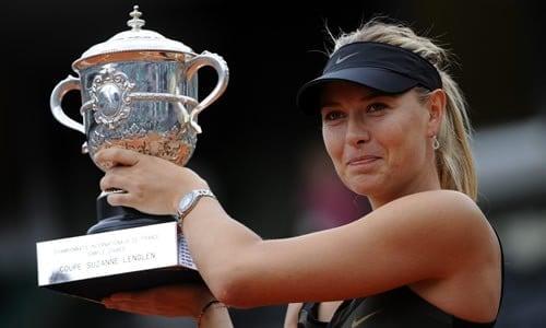 Maria Sharapova melhores jogadoras de tênis de todos os tempos