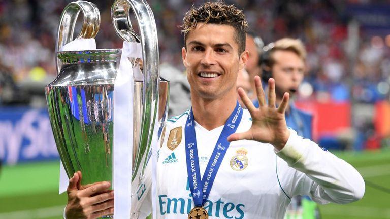 Cristiano Ronaldo pentacampeão da Champions