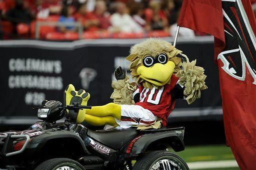 Freddie Falcon mascote do Atlanta Falcons