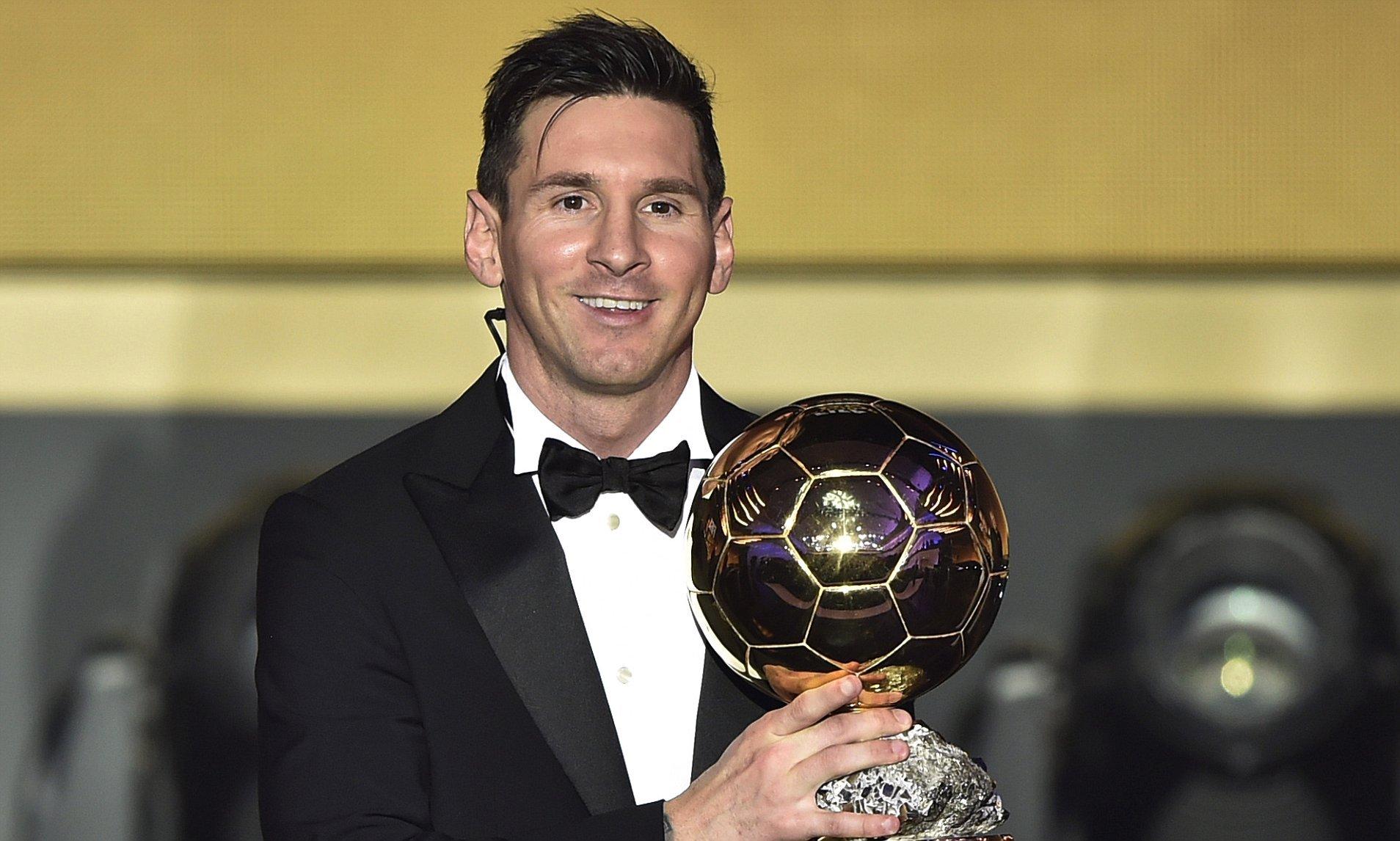 Lionel Messi melhor jogador do mundo de 2015