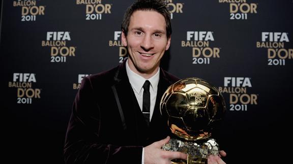 Messi melhor jogador do mundo de 2011