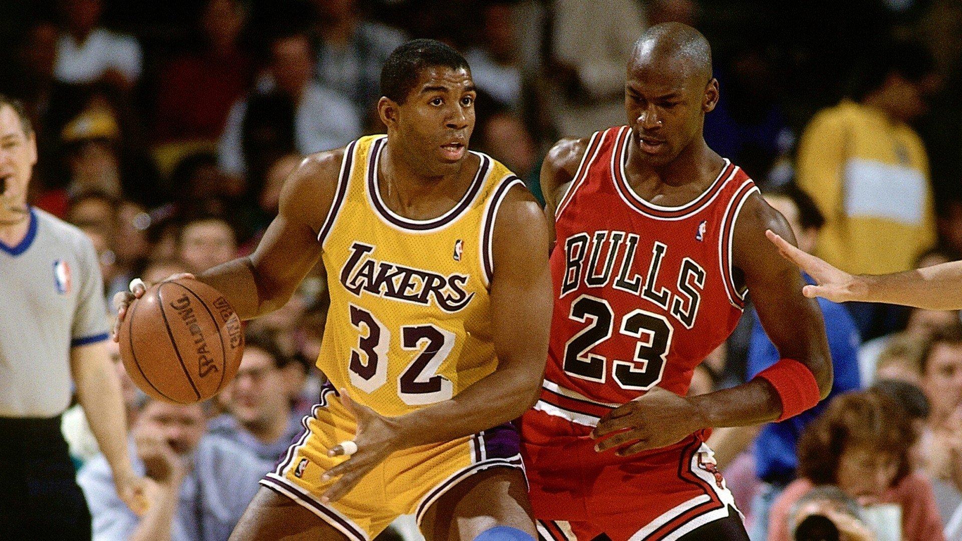 Magic Johnson e Michael Jordan
