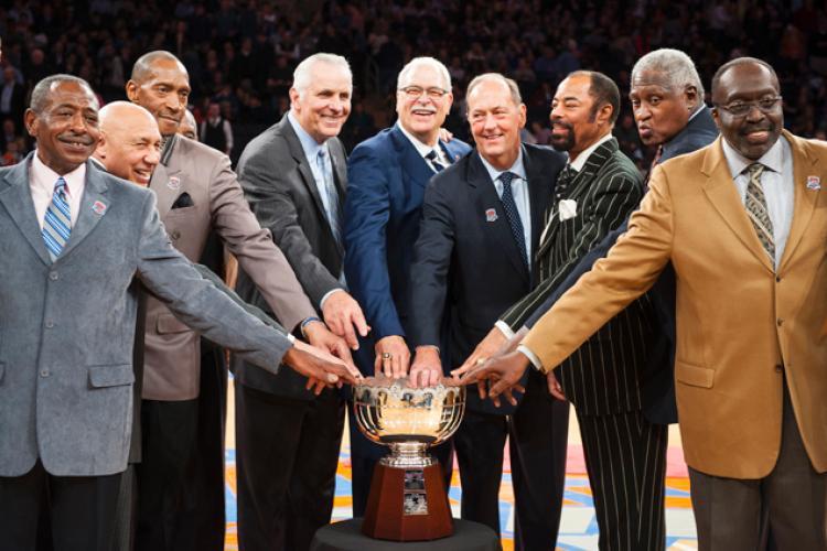 Knicks cerimônia de 40 anos do títulos de 1973