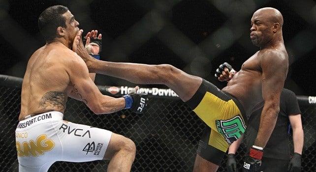 Anderson Silva e Vitor Belfort no UFC