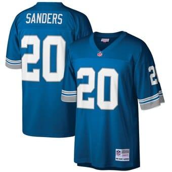Camisa retrô do Detroit Lions Barry Sanders