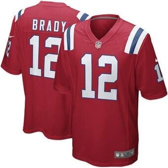 Camisa New England Patriots Tom Brady Vermelha