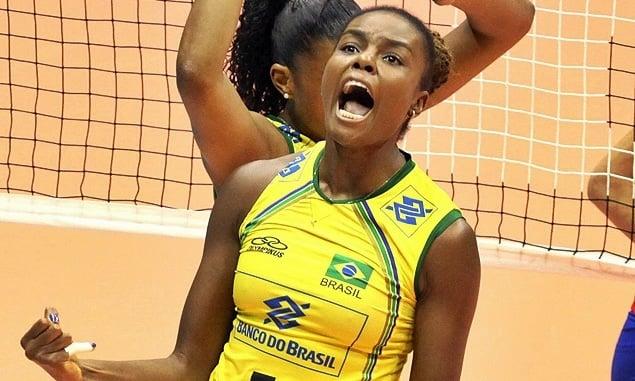 Fabiana central da seleção brasileira de vôlei