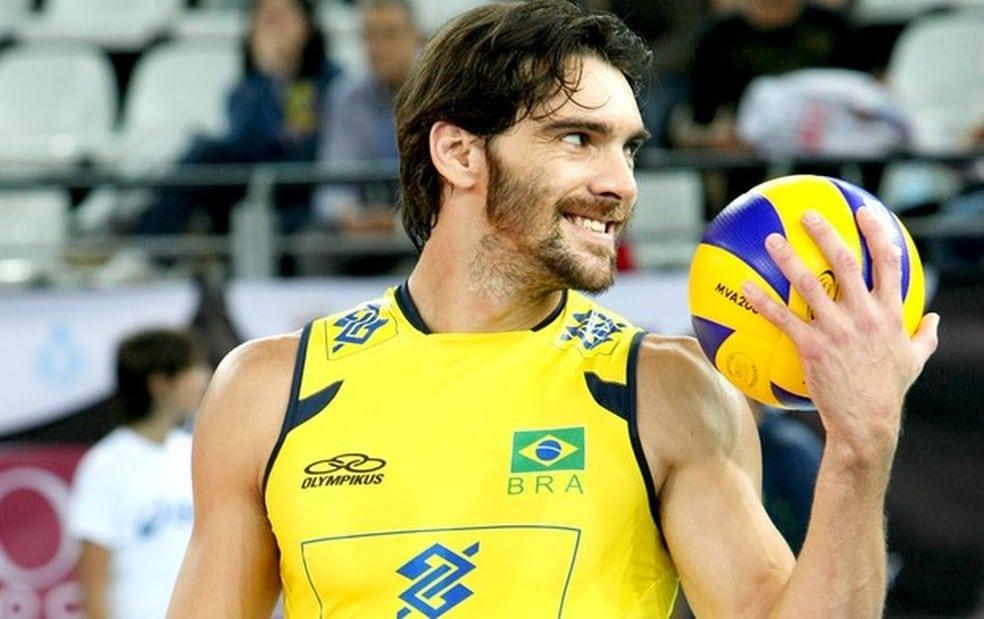 Giba ponta da seleção brasileira de vôlei