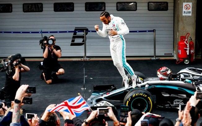 Lewis Hamilton vencedor do milésimo GP da história da F1