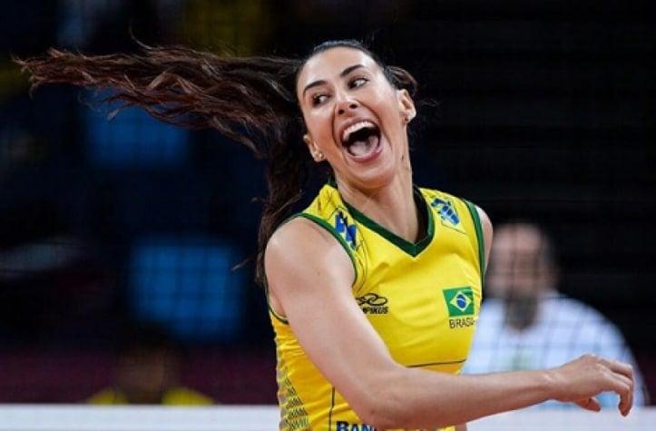 Sheilla oposto da seleção brasileira de vôlei