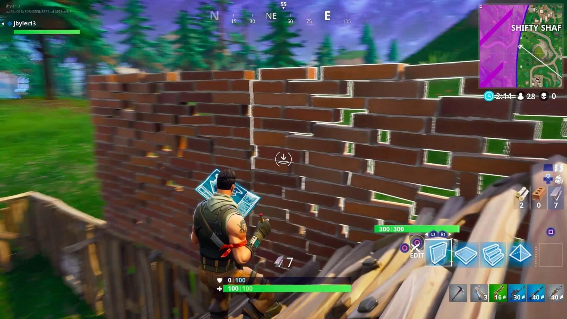 como jogar forrnite construir