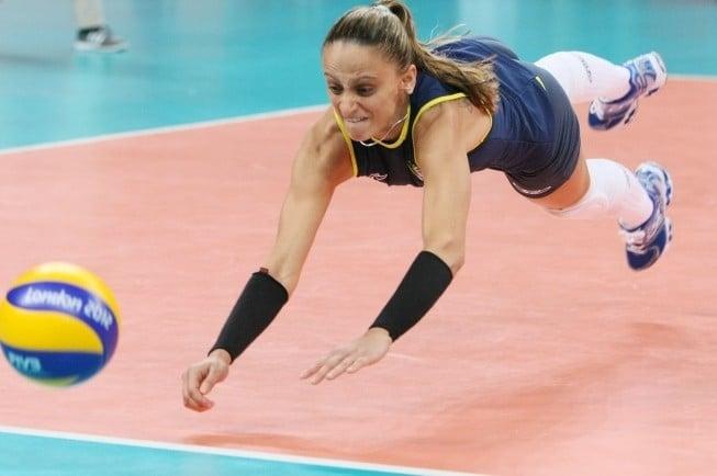 Fabi líbero da seleção brasileira de vôlei feminino