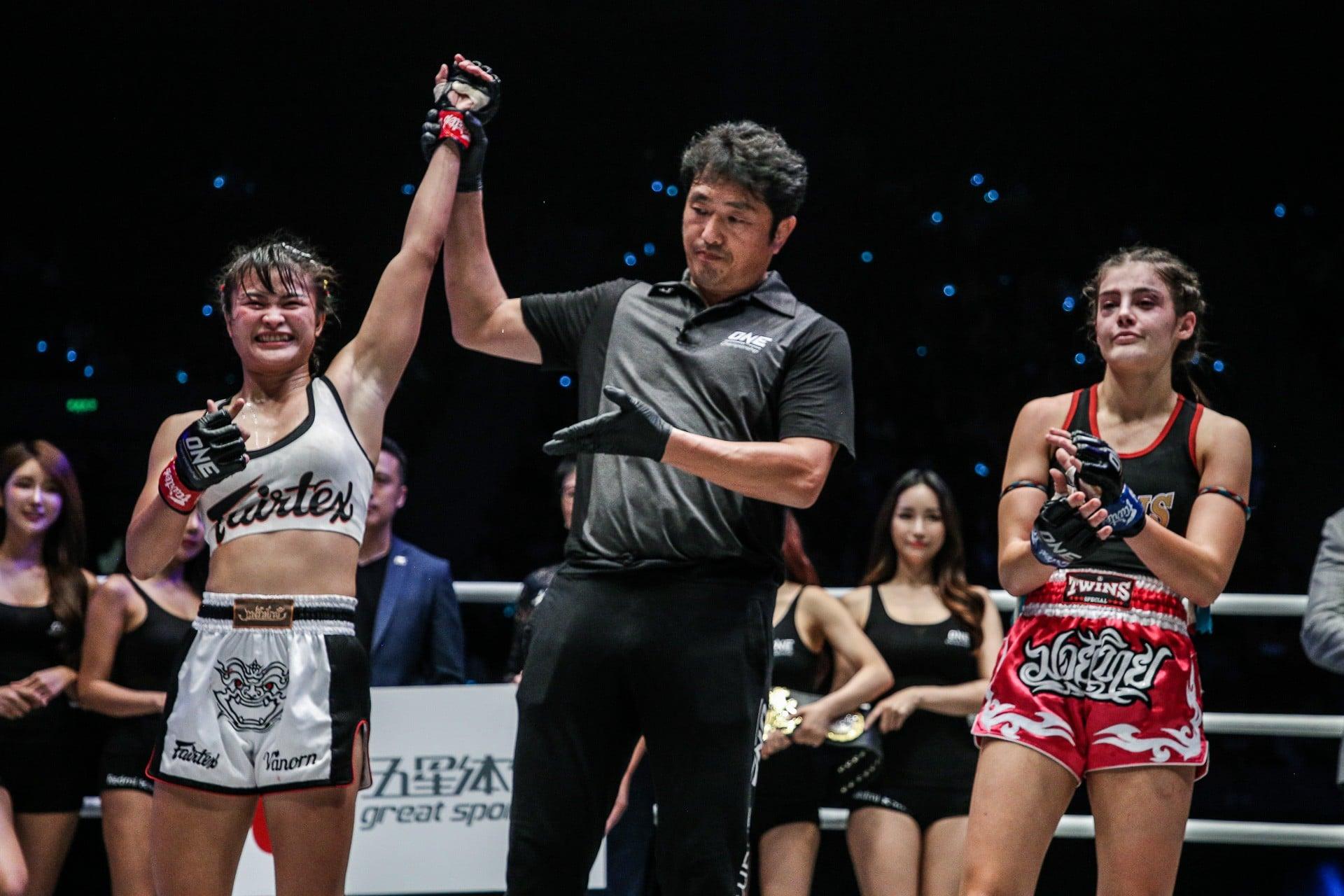 Vencedor de luta no Muay Thai