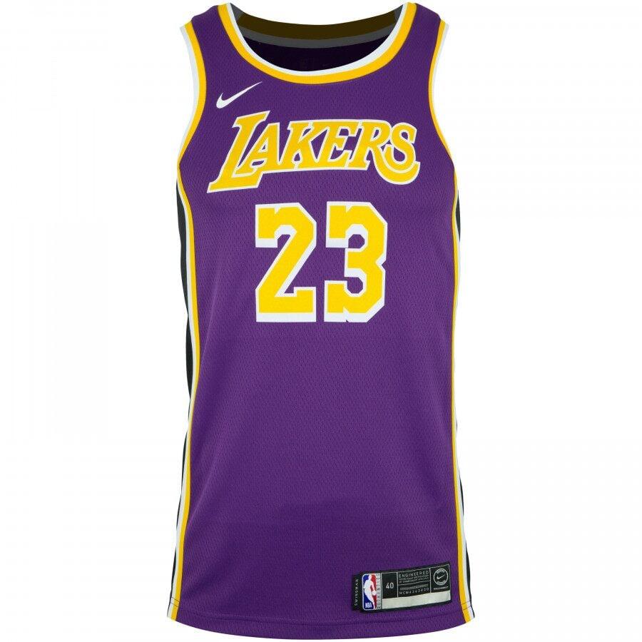 Camisa do Los Angles Lakers de Lebron James roxa