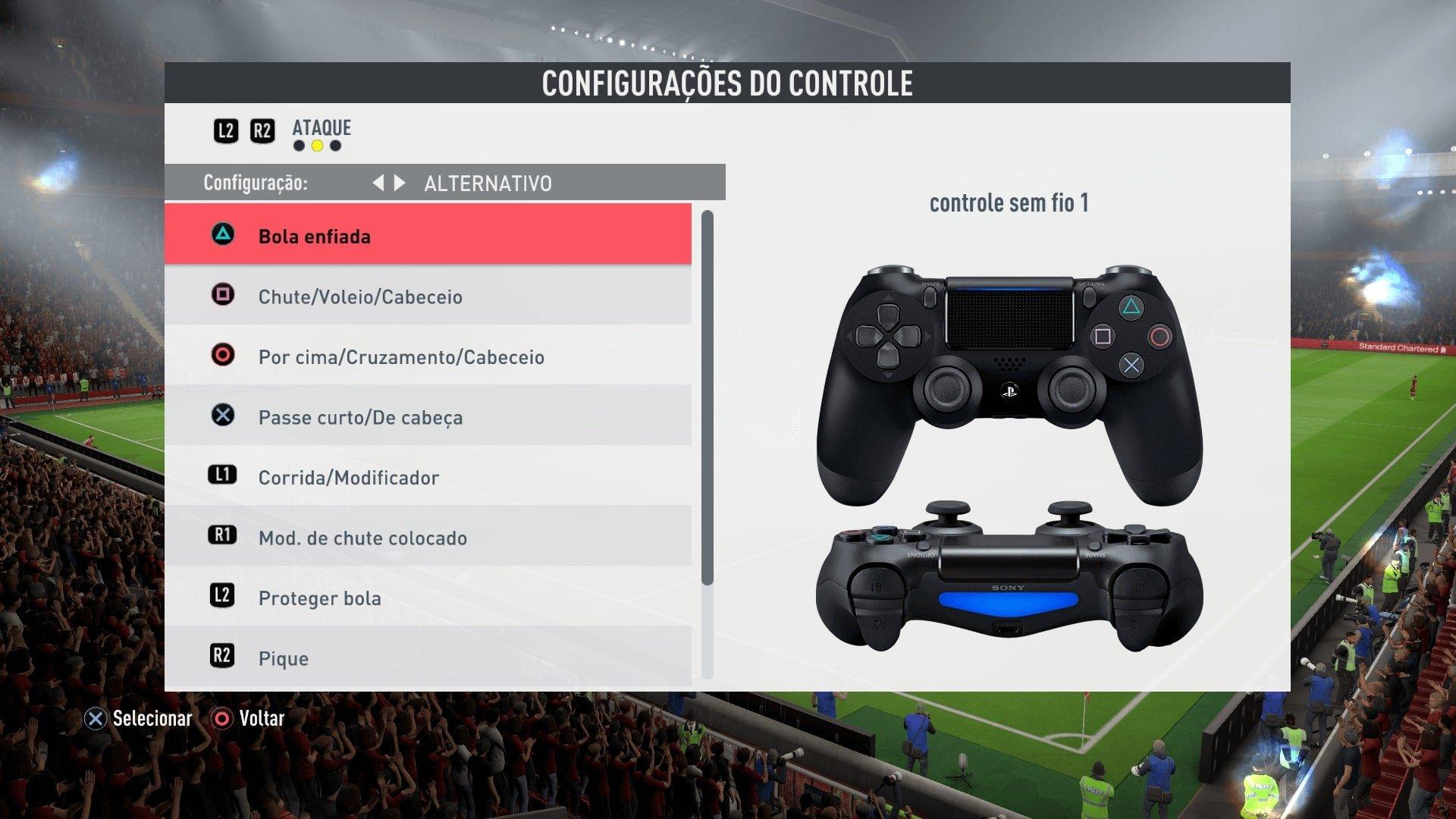 controles do fifa 20