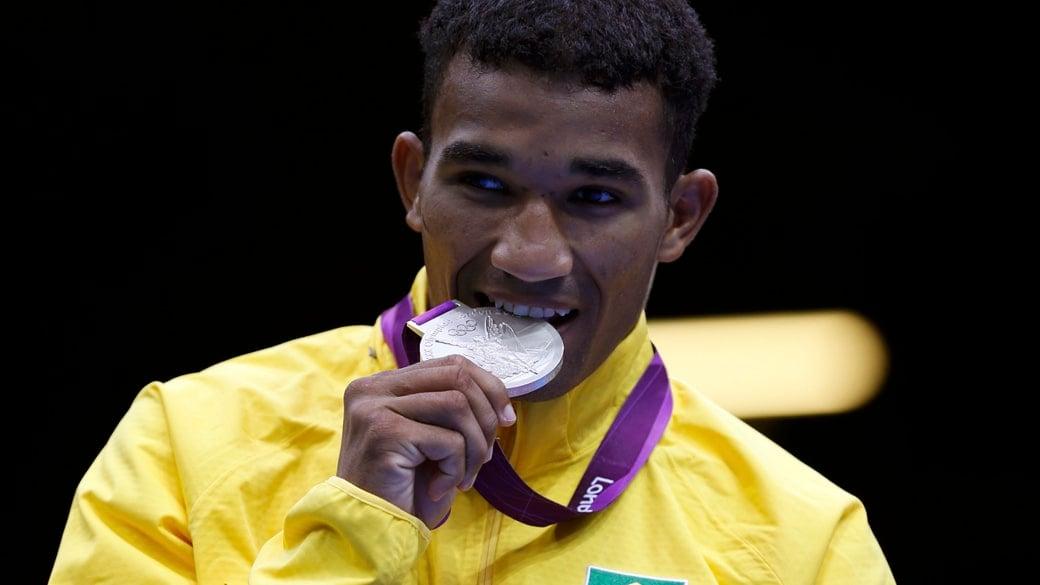 Esquiva Falcão medalhista de prata na Olimpíada de Londres em 2012