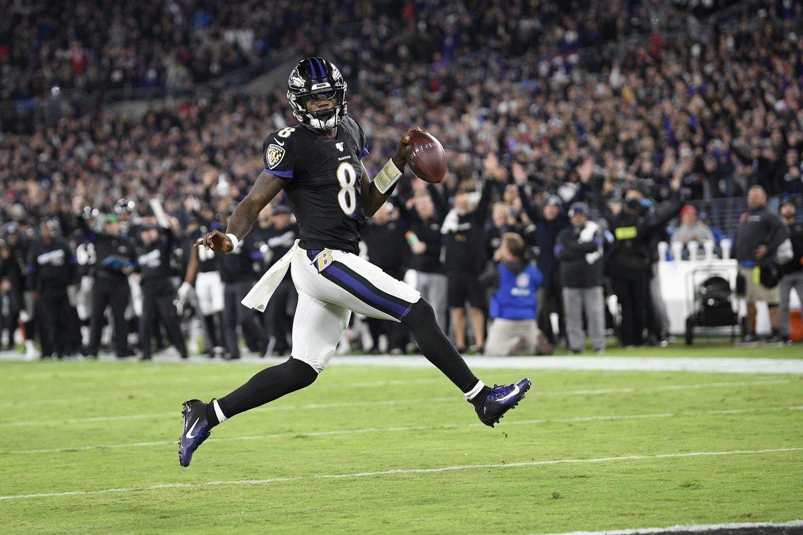 Lamar Jackson quarterback do Baltimore Ravens na NFL