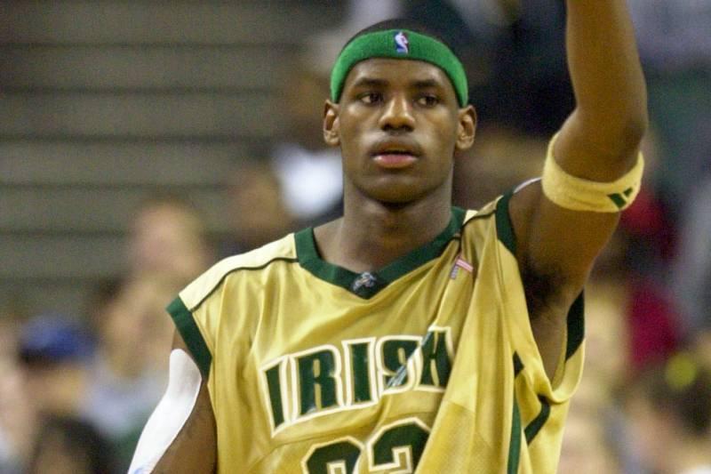 Como LeBron James começou no basquete High School