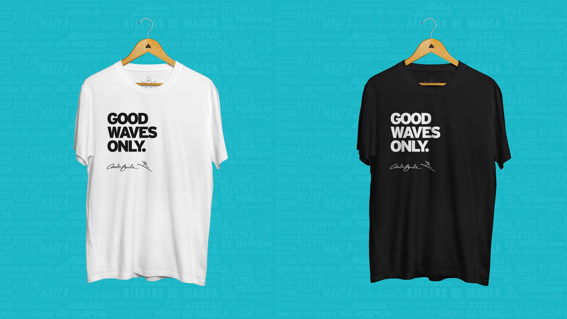 camiseta carlos burle good waves only